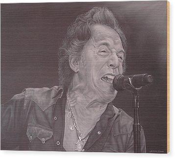 Bruce Springsteen V Wood Print