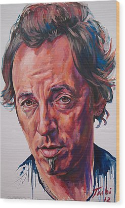 Bruce Wood Print by Tachi Pintor