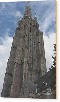 Wood Print featuring the photograph Bruges Church Of Our Lady by Deborah Smolinske