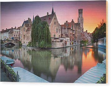 Bruges Wood Print