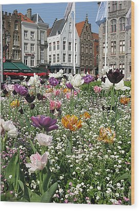 Wood Print featuring the photograph Brugge In Spring by Ausra Huntington nee Paulauskaite