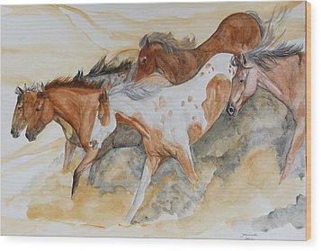 Bruneau Idaho Wood Print by Janina  Suuronen