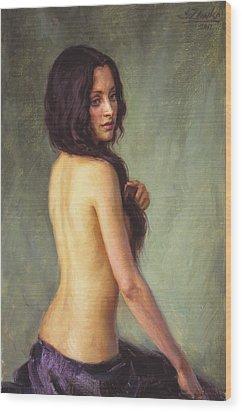 Brunette Wood Print