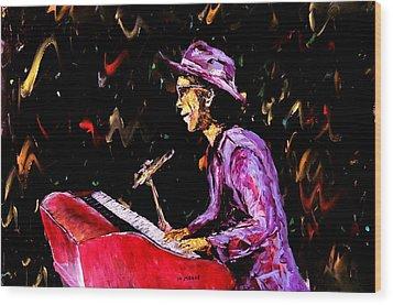 Bruno Mars  Wood Print by Mark Moore