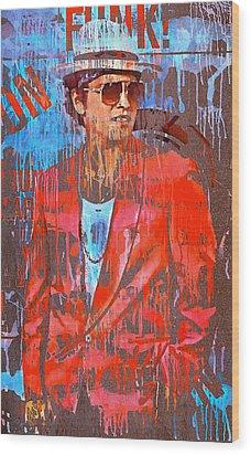 Bruno Mars - Uptown Funk 7 Wood Print