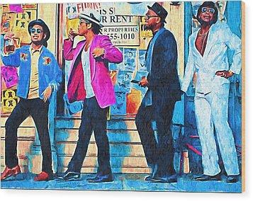 Bruno Mars - Uptown Funk 8 Wood Print