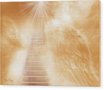 Brush Of Angels Wings Wood Print