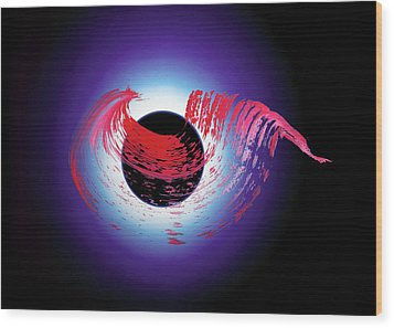 Brushstroke Over Eclipse -- Tribute To Pink Floyd Dark Side Of The Moon Wood Print