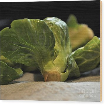 Brussels Sprouts Wood Print