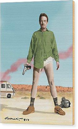 Bryan Cranston As Walter White  @ Tv Serie Breaking Bad Wood Print
