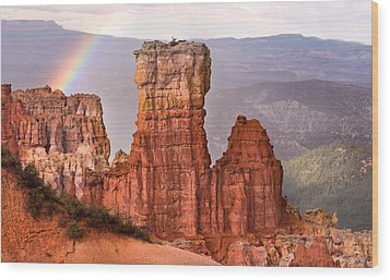 Bryce Canyon In Rain Wood Print