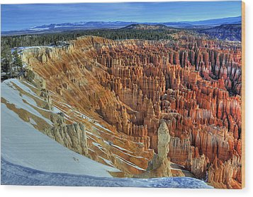 Wood Print featuring the photograph Bryce Canyon Sunrise by Dan Myers