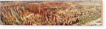 Wood Print featuring the photograph Bryce Canyon Utah Panoramic by Kathy Churchman