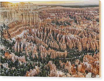 Bryce Point Sunset Wood Print by Harry H Hicklin