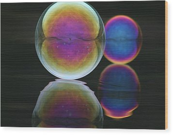Bubble Spectacular Wood Print by Cathie Douglas