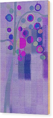 Bubble Tree - S85lc03 Wood Print by Variance Collections