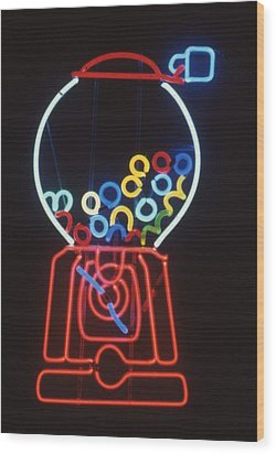 Bubblegum Machine Wood Print by Pacifico Palumbo