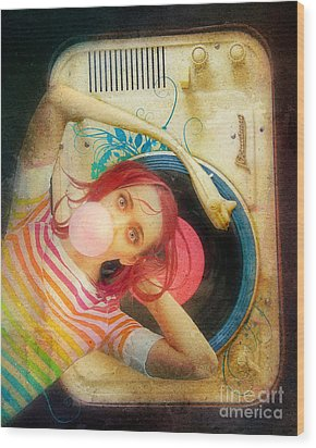 Bubblegum Pop Wood Print by Aimee Stewart