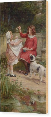 Bubbles Wood Print by George Sheridan Knowles