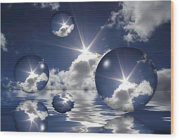 Bubbles In The Sun Wood Print by Shane Bechler