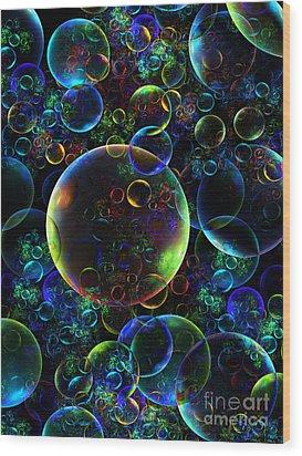 Bubbles Orgy 2 Wood Print