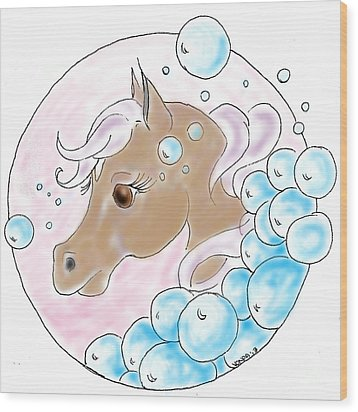 Wood Print featuring the digital art Bubbles Profile by Vonda Lawson-Rosa