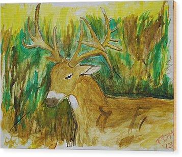 Buck Of A Lifetime Wood Print