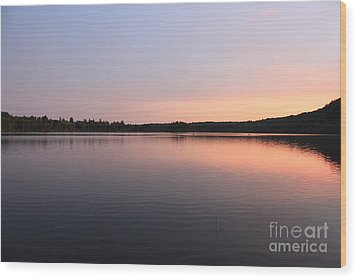 Buck Pond At Dusk Wood Print by Paul Cammarata