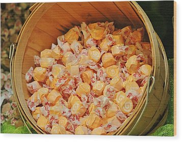 Wood Print featuring the photograph Bucket Of Taffy by Cynthia Guinn