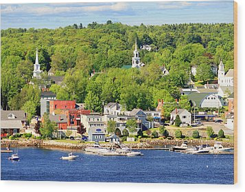 Wood Print featuring the photograph Bucksport Maine Waterfront by Barbara West