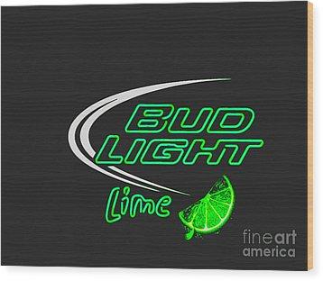 Bud Light Lime 2 Wood Print