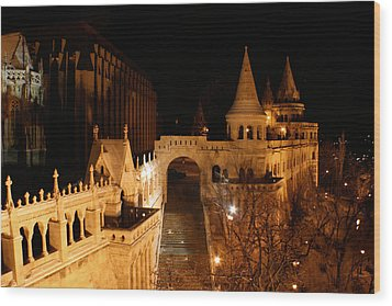 Wood Print featuring the photograph Budapest At Midnight by Jon Emery