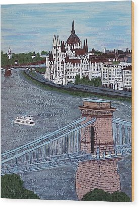 Budapest Bridge Wood Print by Jasna Gopic