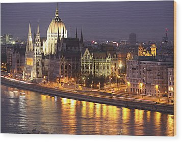 Budapest Parliament Buildings Wood Print