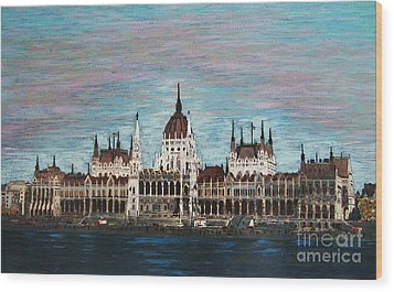 Budapest Parliament By Jasna Gopic Wood Print by Jasna Gopic