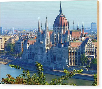Wood Print featuring the photograph Budapest Parliament by Kay Gilley