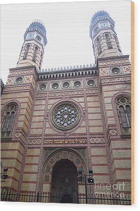 Wood Print featuring the photograph Budapest Synagogue by Deborah Smolinske