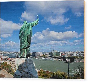 Budapest. View From Gellert Hill Wood Print by Michal Bednarek