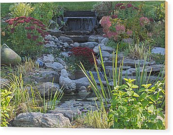 Wood Print featuring the photograph Buddha Water Pond by Brenda Brown