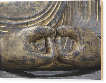 Wood Print featuring the photograph Buddha 3 by Lynn Sprowl