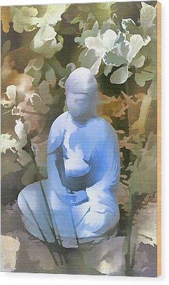 Buddha 3 Wood Print by Pamela Cooper