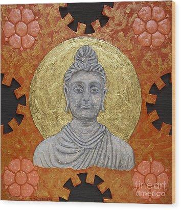 Buddha Wood Print by Anna Maria Guarnieri