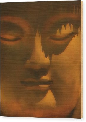 Buddha At Rest Wood Print by Kandy Hurley