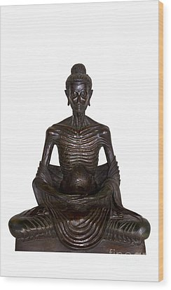 Buddha Attitude Subduing Himself Image Wood Print by Tosporn Preede