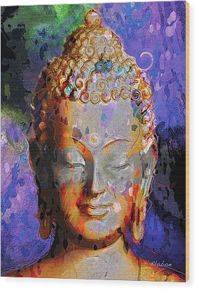 Wood Print featuring the painting Buddha by David Klaboe