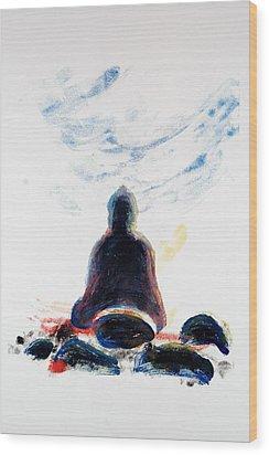 Buddha Fifty-one Wood Print by Valerie Lynch