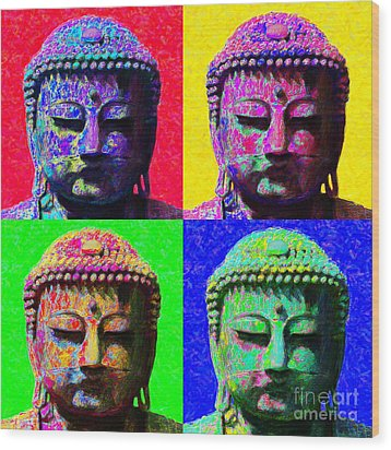 Buddha Four 20130130 Wood Print by Wingsdomain Art and Photography