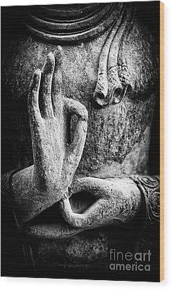 Buddha Hand Mudra Wood Print