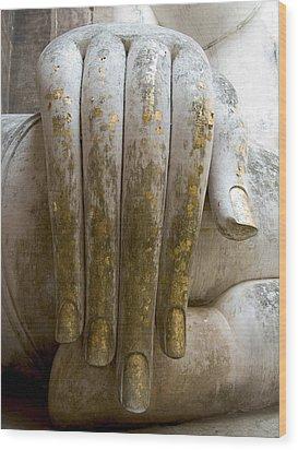 Buddha Hand Wood Print by Zina Zinchik