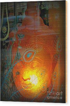 Buddha Head Wood Print